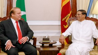 President Sirisena meeting with Prime Minister of Pakistan