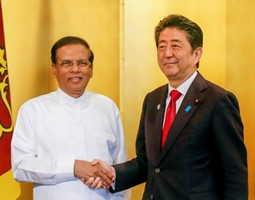 H.E. Mr. Shinzo Abe, Prime Minister of Japan and H.E. Mr. Maithripala Sirisena, President Sri Lanka