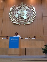 Hon Minister of Health at the 67th World Health Assembly