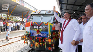 President -Yal Devi express train arrived in Jaffna 13oct2014