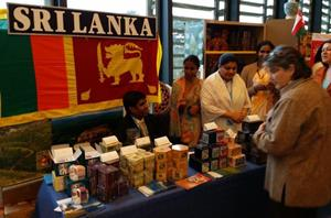 Sri Lanka counter at the UN Bazaar 2013